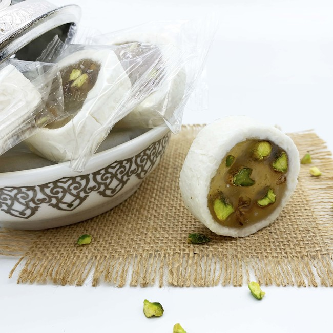Malban Nougat Roll with Pistachio and Coconut