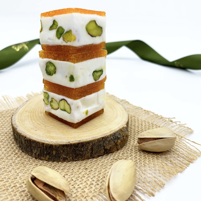 Mini Pistachio Nougat with Apricot