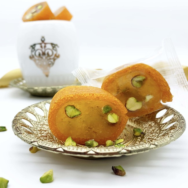 Pistachio Malban Roll with Apricot