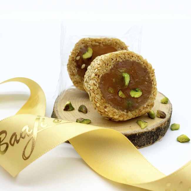 Pistachio Malban Roll with Sesame