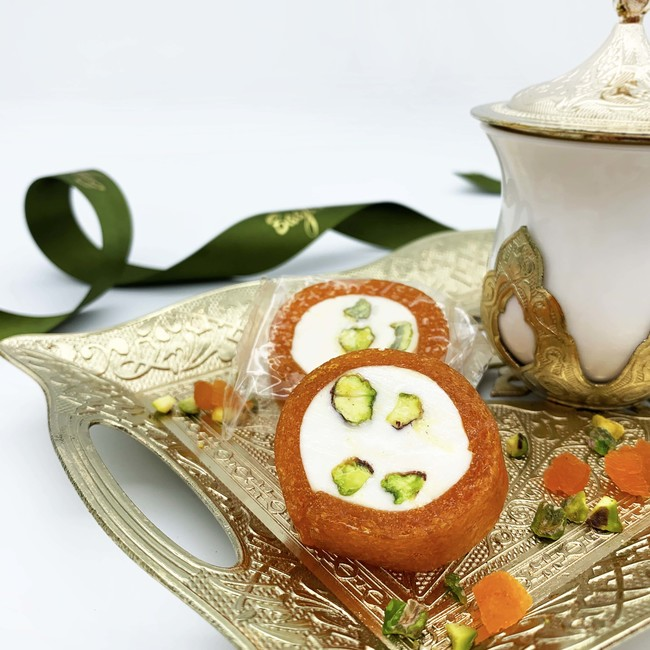 Pistachio Nougat Roll with Apricot