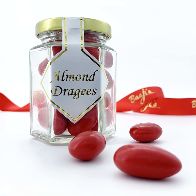 Red Italian Chocolate Almond Dragees